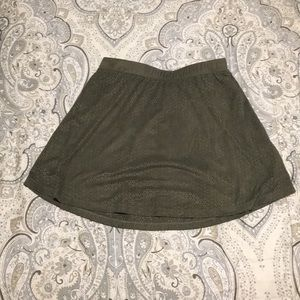 Dark green skirt